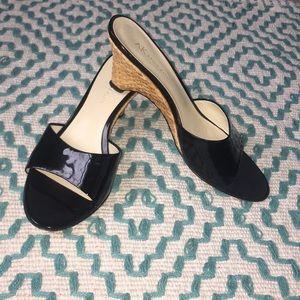Gently-loved Anne Klein Wedge Sandals